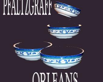 """Pfaltzgraff """"Orleans"""" Bowls.  Set of four"""