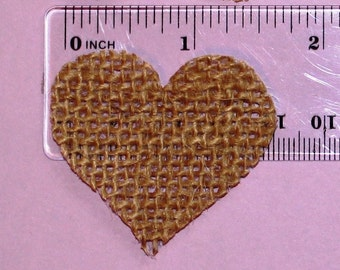 Set of 100 Burlap Heart Shapes-for Rustic Wedding-hearts