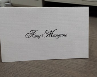 Wedding Place Card - You Design - your choice of colors-Cards are 0.55 each with the guest name- 0.35each  in blank