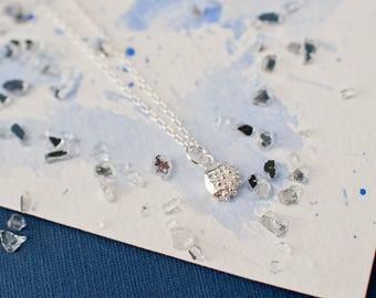Organic Small Silver Textured Pendant