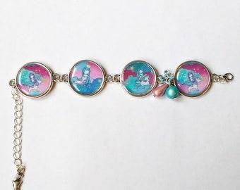 Bracelet: Mermaid and Unicorn