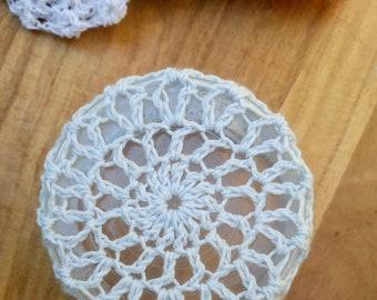 Bun cover – ballet bun cover - crochet bun cover - blue bun cover - hair net - bun net