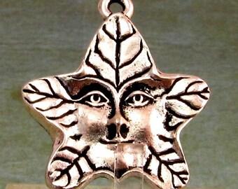 Tree Spirit Charm, Pendant, Antique Silver, TierraCast TS71