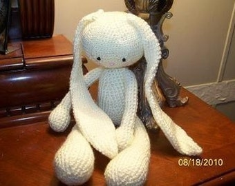 Floppy crochet bunny rabbit large ANY color you want