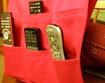 Remote Control Caddy Red 6 pocket Dorm Item