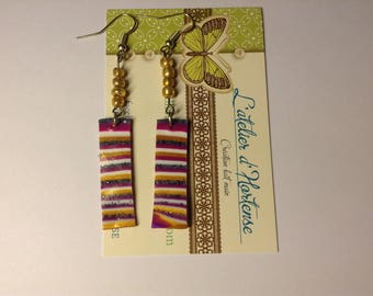 scratched stick earrings