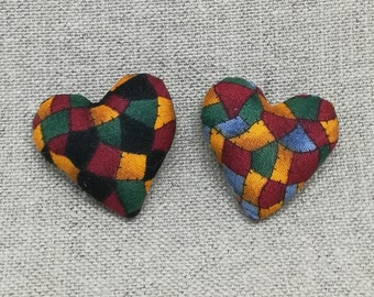 Set of 2 small matching heart magnets