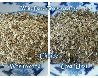 UVA URSI - WORMWOOD Organic 1oz Choice Herb ~ Kinnikinnick Bearberry