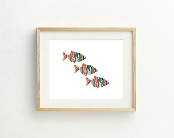 Three Fish Print