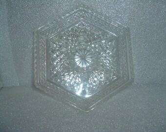 vintage  glass serving dish / relish tray