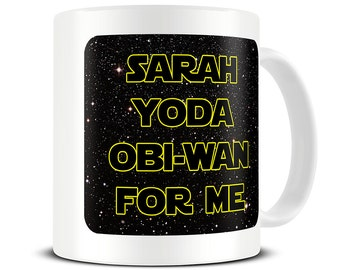 Personalised Yoda Obi Wan for Me Coffee Mug - funny personalized mug - valentines gift -  boyfriend mug - girlfriend gift mug - MG417
