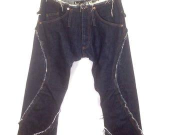 Vintage Andrew Mckenzie Jeans Patched design