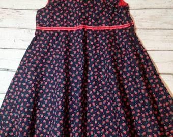 Strawberry dress, girls dress, girls clothing, girls fashion, party dress,