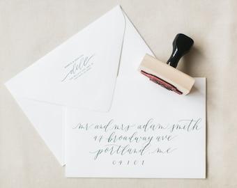 semi-custom return address stamp