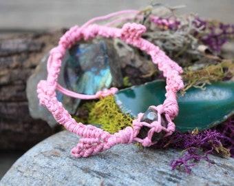 Pink turitella Agate Leaf Bracelet