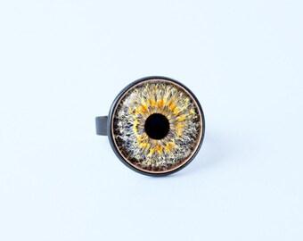 Ring human eye Eyes jewellery Unique gift Eyeball ring Eye ring Evil eye jewelry Eyeball jewellery Ring jewelry Grey eye ring Gift for her