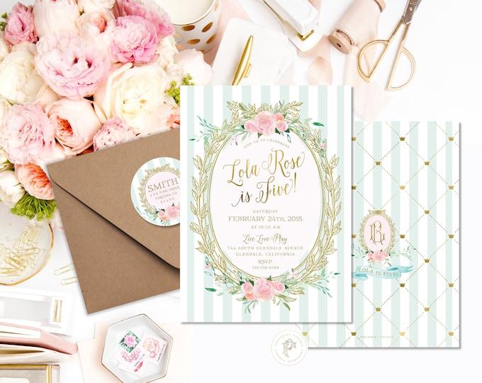 Birthday invites freshmintpaperie birthday invites stopboris Choice Image