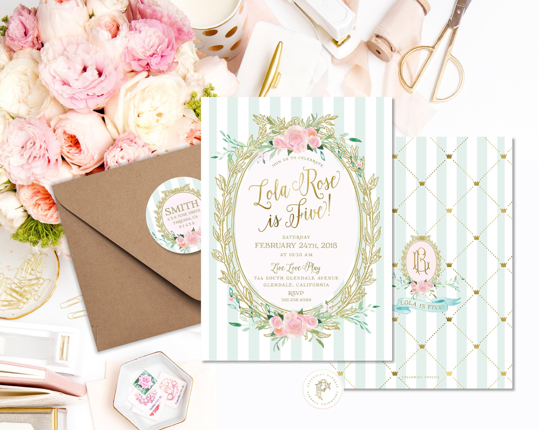 Ladurée invitation - birthday Birthday - Ladurée Party - Ladurée ...