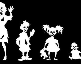 Zombie family car decal **Customize to your family**