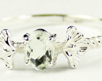 Green Amethyst, 925 Sterling Silver Ring, SR192