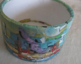 Bangle bracelet, upcycled, teachers gift, mothers day, BD, unique
