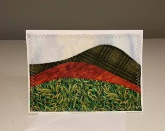 Fabric Applique Landscape Card