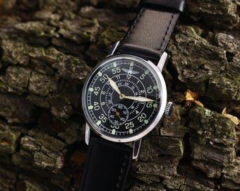 Military watch, Pobeda watch, Aviator watch, ussr watch, vintage watch, soviet watch, men watch, russian watch, retro watch, gift for him