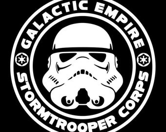 Star Wars Galactic Empire Stormtrooper Vinyl sticker  decal decorative