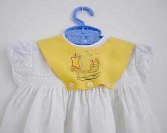 Toddler Dress, Vintage Toddler Dress, Summer Toddler Dress, Little Girls Dress White Baby Dress, Baby Girl Dress