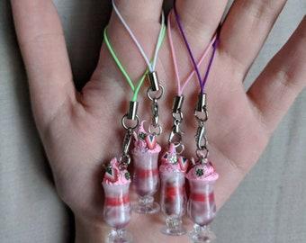 Strawberry Sundae Keychain