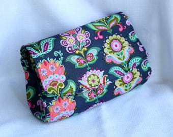 Convertible Clutch Purse - Amy Butler Bright Heart Bag
