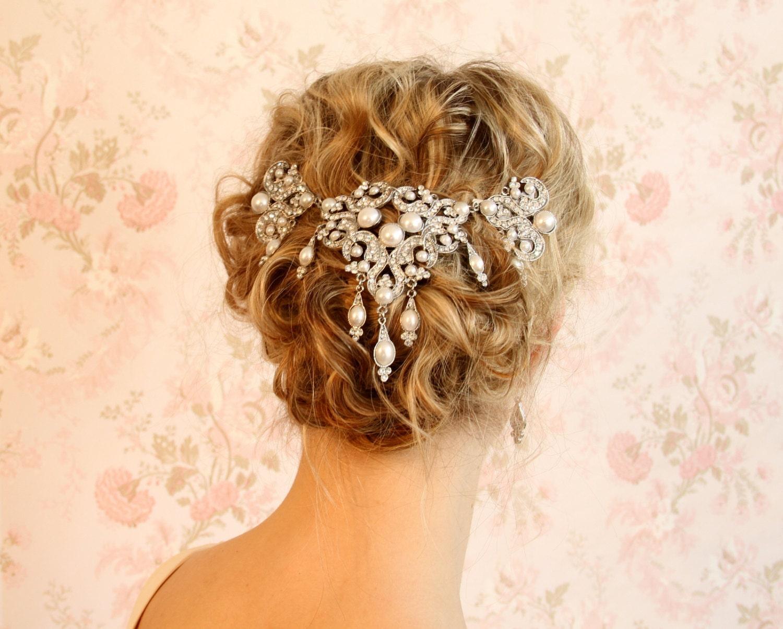 crystal veil wedding veil hair accessories bridal hair