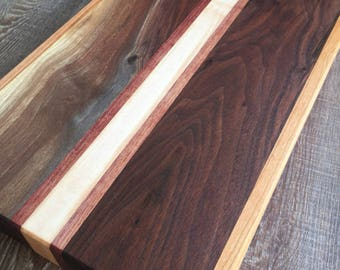 Cutting Board - Black Walnut | Cherry | Purpleheart | Maple