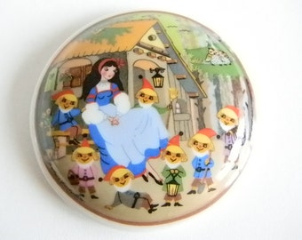 Vintage Jewelry Snow White Trinket Ring Box - Made in Germany by Barbara Furstentofer