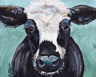 "Cow Print Digital Download, Cow art Instant Download ""Clyde"""