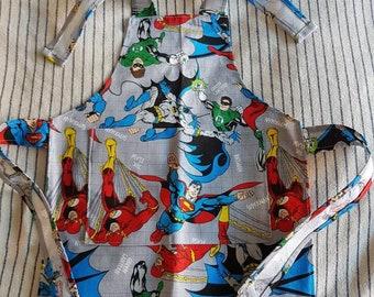 Marvel Boys apron, super heros, cooking apron