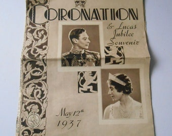 King George 6th Coronation 1937 Collectible Souvenir Papers  British Royal family