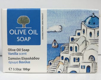 greek olive oil soap vanilia