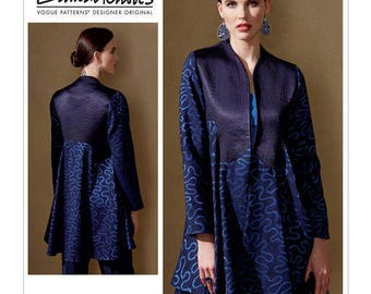 Vogue Pattern V1561 Misses' Lined Swing Jacket with Shape Detail