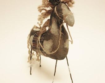 Primitive Paint Horse, Country Barnyard Animals, Farmhouse Decor, Folk Art Horses