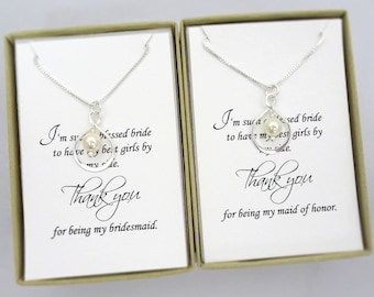 necklace you gift being my for seville silver weddings britten in products thank bridesmaid