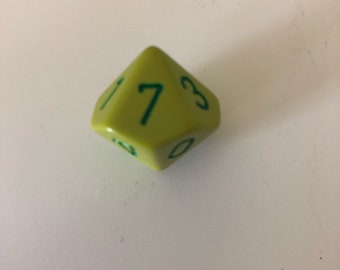 Dungeons and Dragons D9 Green dice magnet D&D