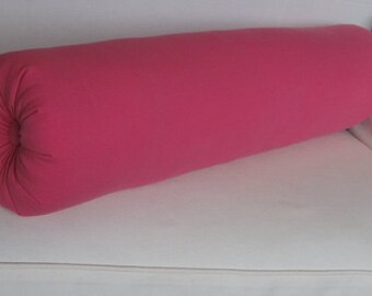 8 x 25 bubblegum pink bolster/daybed pillow