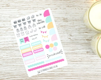 Hobonichi Weeks Monthly Planner Stickers; Ice Cream Kit; Sticker Kit; Hobonichi Weeks Sticker; Small Planner Stickers; Pocket Kit