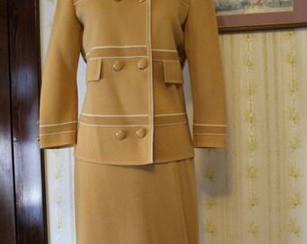 1960s CARNABY Zephyr Wool Knitted Career Suit, Medium