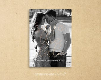 Simple Black and White Save the Date | Wedding | Printable Digital File