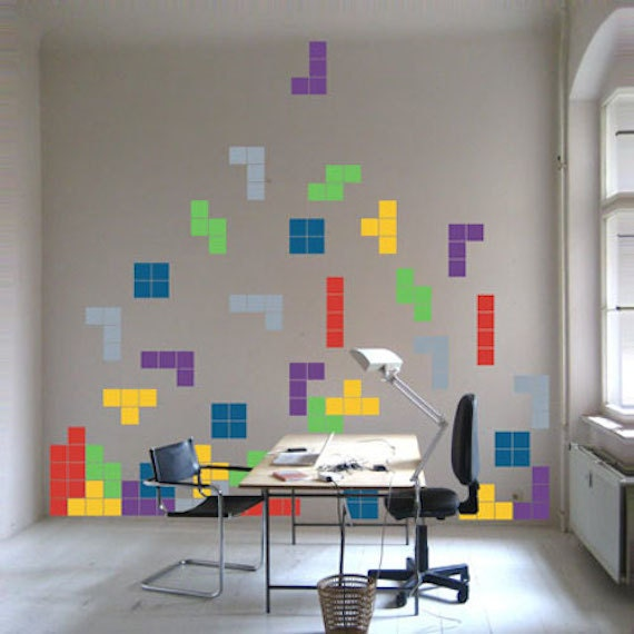 Exceptional Tetris Decals   Video Game Decals   Lego Art, Kids Room Video Game Wall  Decal Stickers   Tetris Wall Decals   Tetris Decals For Kids, D70