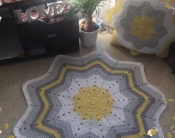 Rug crochet by hand