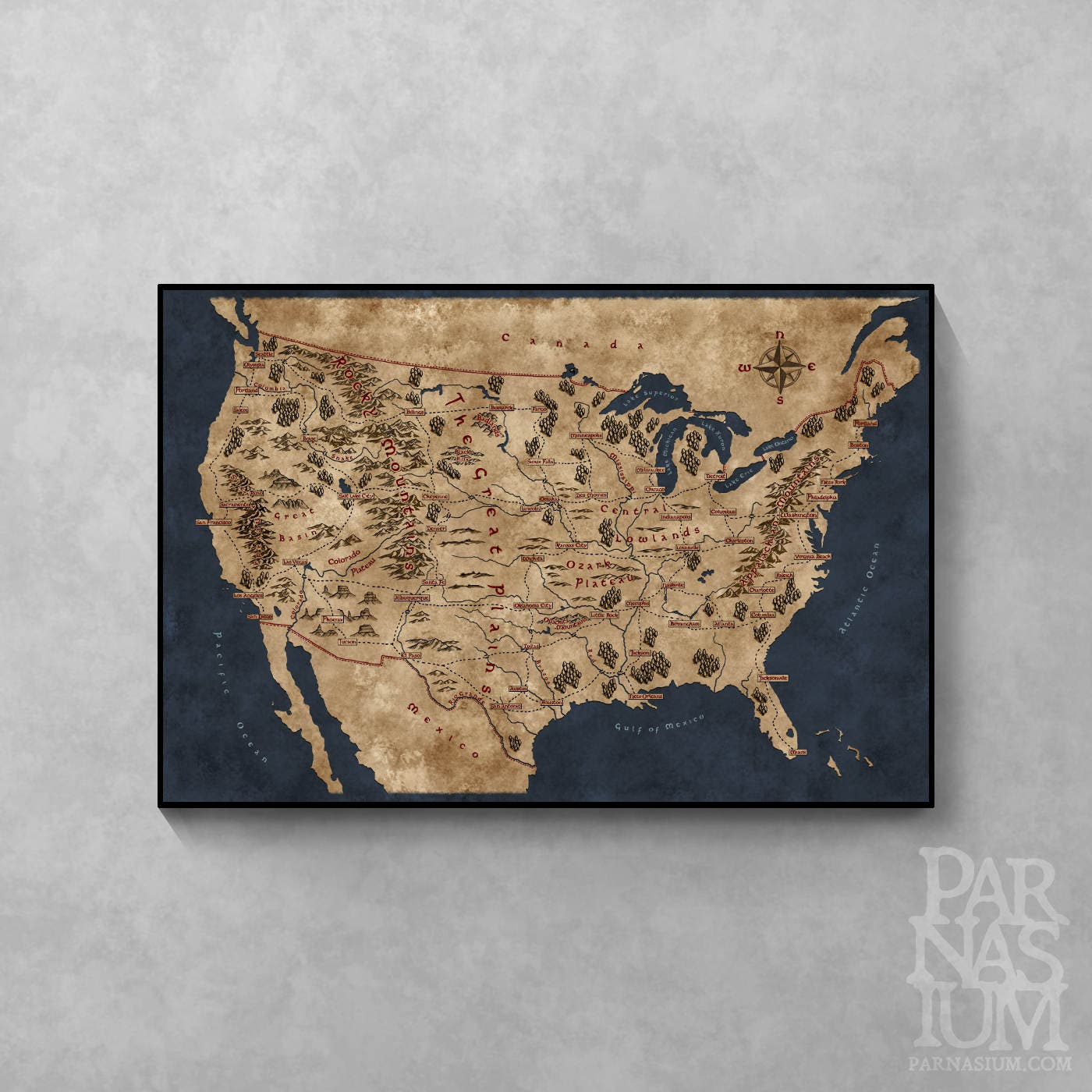 Map Map Of The United States zoom
