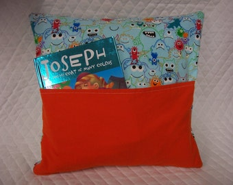 Monsters Reading Book Pillow 14X14